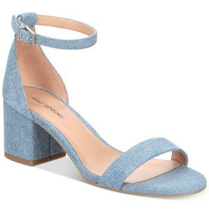 Stunning Call it Spring Denim Block Heel Sandal 8